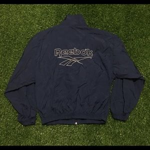 90's Boy's Reebok Blue Track Jacket Size Large